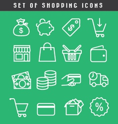 set of Shopping icons vector image vector image