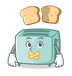 silent toaster character cartoon style vector image vector image