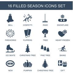 16 season icons vector image