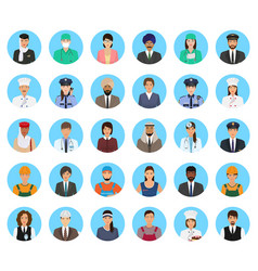avatars characters people of different occupation vector image