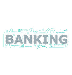 Banking word desigh vector