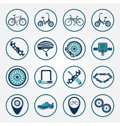 biking icon set vector image