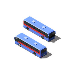 blue passenger bus two different views vector image