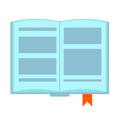 Book icon open book on white background vector