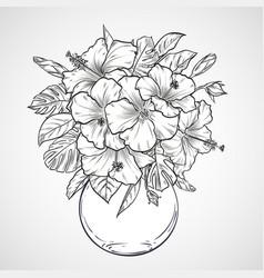 bouquet flowers vector image