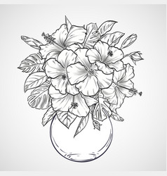 bouquet of flowers vector image