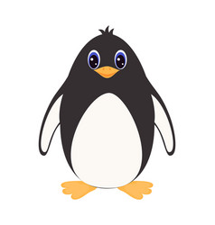 cartoon penguin isolated on white vector image