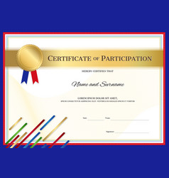 Certificate template in sport theme with border vector