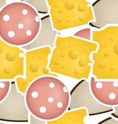 Cheese and salami vector