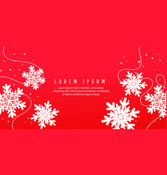 christmas card invitation card with paper cut vector image