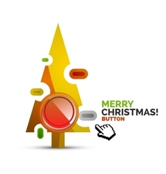 Christmas internet button on white background with vector image