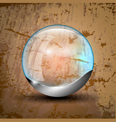 Clear ball with gray bottom vector