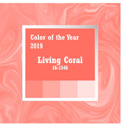 color of the year 2018 trend palette swatch vector image