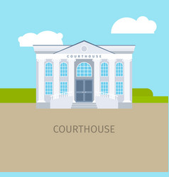 Colored courthouse building vector