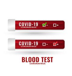 covid19-19 coronavirus blood test lab report vector image
