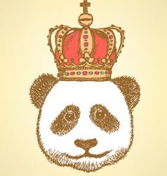 Crown Panda vector