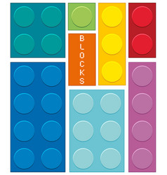 Different shapes and colors of blocks vector