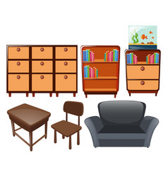 Different types of furniture vector