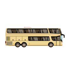 double decker coach isolate on white background vector image