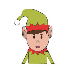 elf christmas related icon image vector image