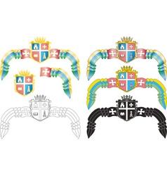 Emblem of the Ukrainian city vector