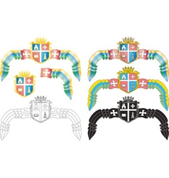 Emblem ukrainian city vector