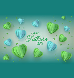 Fathers day greeting card with trendy blue and vector