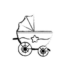 Figure baby strolle that used to transportation vector