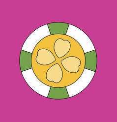 Flat icon design collection casino chip vector