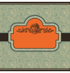 floral vintage template vector image