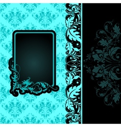 frame on seamless background vector image
