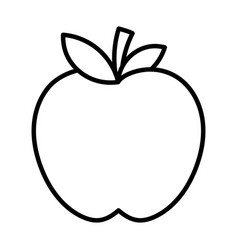 Fresh fruit tasty apple icon thick line vector