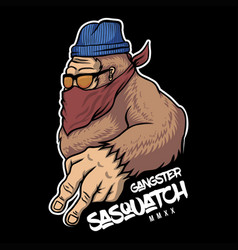 gangster sasquatch vector image