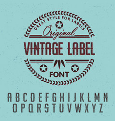 great style for labels poster vector image