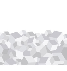 Grey cube background vector