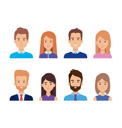 group of business people characters vector image