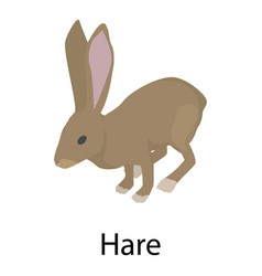 hare icon isometric style vector image