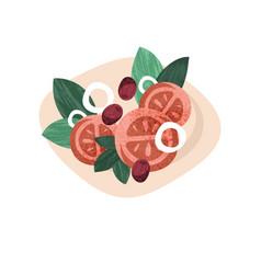 healthy vegetarian salad with fresh vegetables vector image
