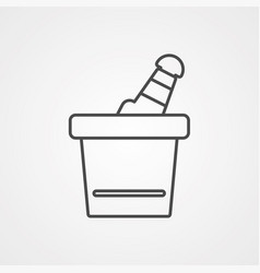 ice bucket icon sign symbol vector image