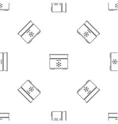 Ice cream refrigerator pattern seamless vector
