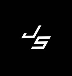 Js logo monogram with up to down style modern vector