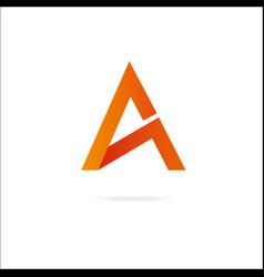 letter a logo design template elements vector image