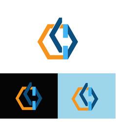 letter k and d business logo vector image