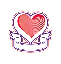 Loving heart Love conceptual symbol vector