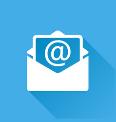mail envelope icon isolated on blue background vector image