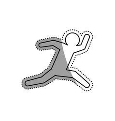 Man running fast vector