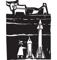 missiles beneath vector image