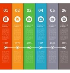 Modern timeline infographic banner vector