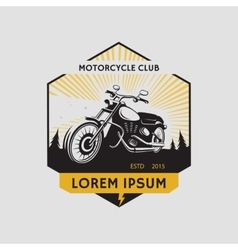 Motorcycle club label Motorcycle symbol vector