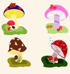 Mushroom drawings vector